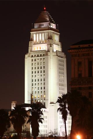 Los Angeles City Hall Building iPhone Wallpaper