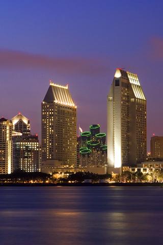 San Diego Skyline iPhone Wallpaper