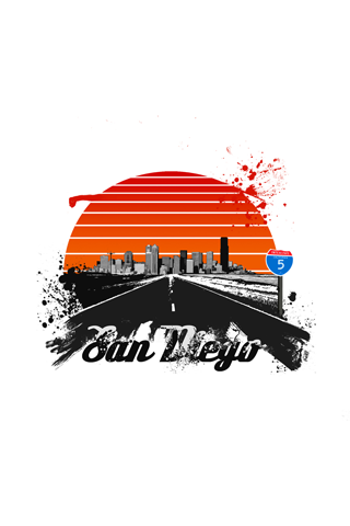 San Diego Abstract Logo iPhone Wallpaper