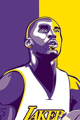 virtual magazine: kobe bryant logo wallpaper
