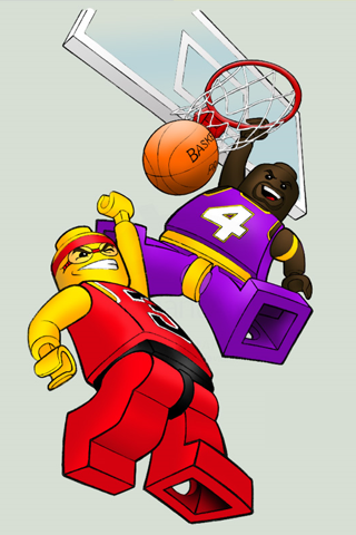 Lego Basketball iPhone Wallpaper