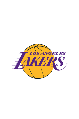 Los Angeles Lakers White Logo iPhone Wallpaper