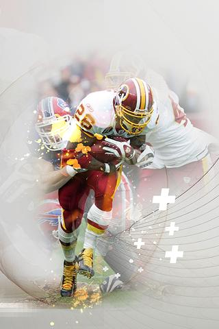 Washington Redskins - Clinton Portis iPhone Wallpaper