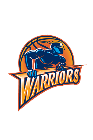 Golden State Warriors White Logo iPhone Wallpaper
