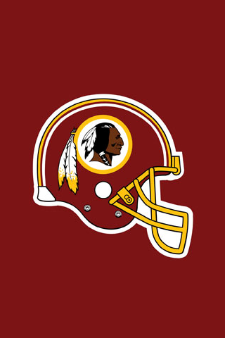 Washington Redskins Vector Helmet iPhone Wallpaper
