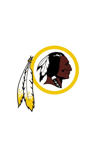 Washington Redskins White Logo iPhone Wallpaper