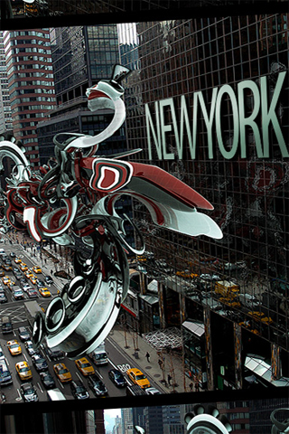 Abstract New York Street iPhone Wallpaper