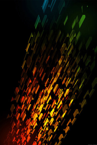 Colorful Razor Pattern iPhone Wallpaper