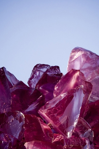 Purple Crystals iPhone Wallpaper