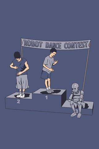 Robot Dance Contest iPhone Wallpaper