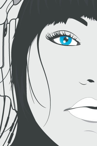 DJ Blue Eyes Vector iPhone Wallpaper
