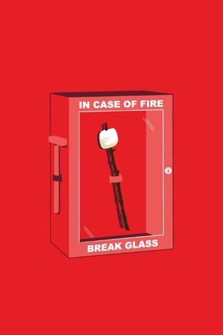 In Case of Emergency - Break Glass iPhone Wallpaper
