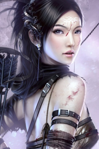 3D Fantasy Girl iPhone Wallpaper