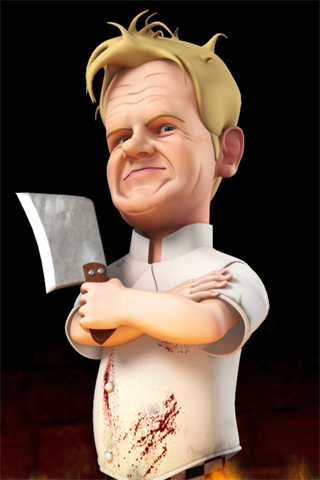 3D Chef Gordon Ramsey iPhone Wallpaper