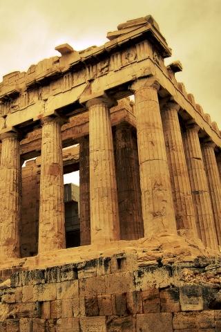 Roman Architecture - Greece iPhone Wallpaper