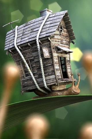 A Snails House iPhone Wallpaper