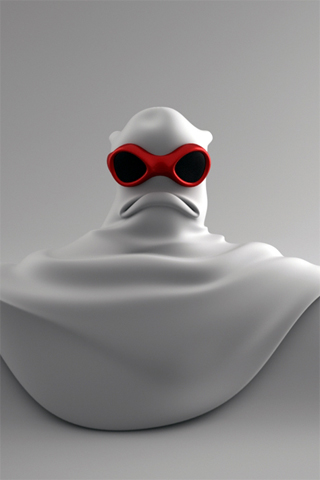 3D Angry Masked Character iPhone Wallpaper