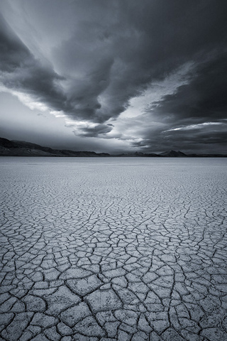Empty Lake Bed iPhone Wallpaper