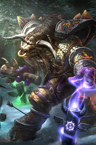 World of warcraft tauren shaman iphone wallpaper - Wow tauren wallpaper ...