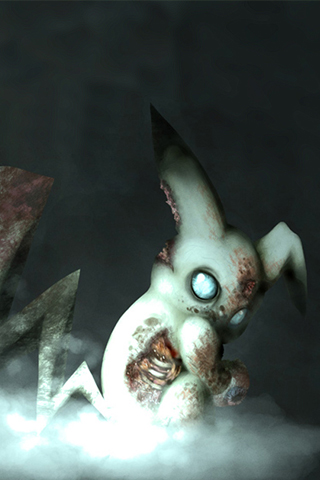Zombie Pikachu iPhone Wallpaper