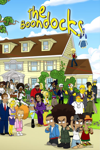 The Boondocks Simpsons Style IPhone Wallpaper