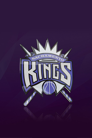 Sacramento Kings 3D Logo iPhone Wallpaper