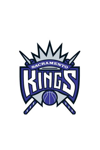 Sacramento Kings White Logo iPhone Wallpaper