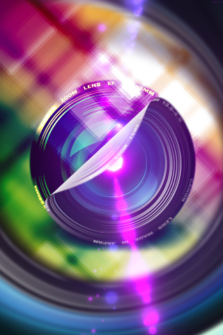 Camera Lens Sticker iPhone Wallpaper