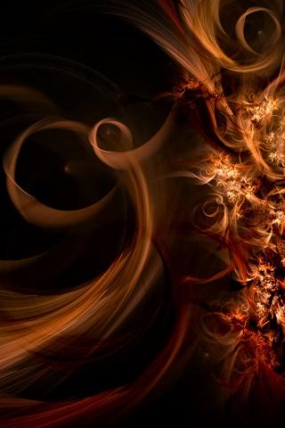 Abstract Fractal Swirls iPhone Wallpaper