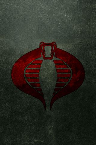 Cobra Commander Logo iPhone Wallpaper