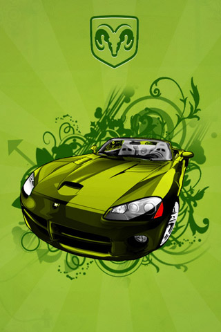 Green Dodge Viper iPhone Wallpaper