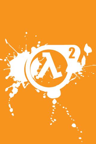 Half Life 2 Orange Logo iPhone Wallpaper   iDesign iPhone