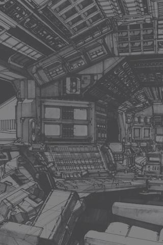 Spaceship Interior iPhone Wallpaper