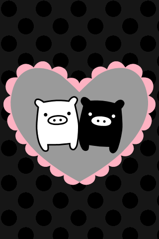 Monokorubu Love iPhone Wallpaper