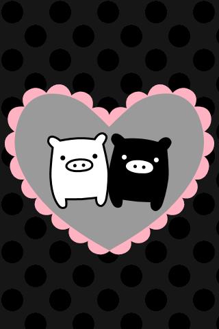 Monokorubu Love iPhone Wallpaper