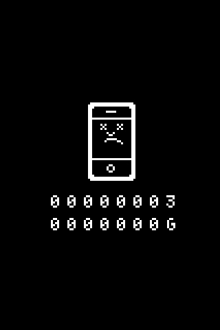 iPhone Error Screen iPhone Wallpaper