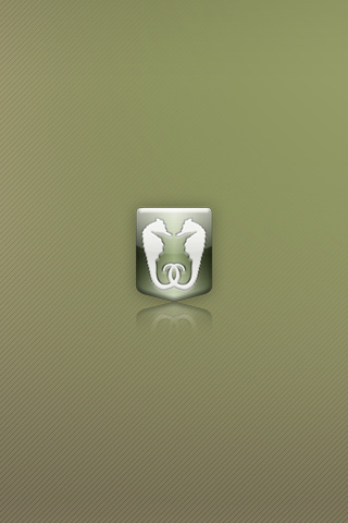 Dual Sea Horse Logo iPhone Wallpaper