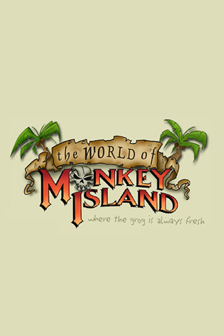 The World of Monkey Island Logo iPhone Wallpaper