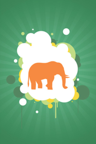 Vector Elephant Silhouette iPhone Wallpaper