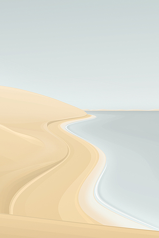 Sandy Beach Vector iPhone Wallpaper