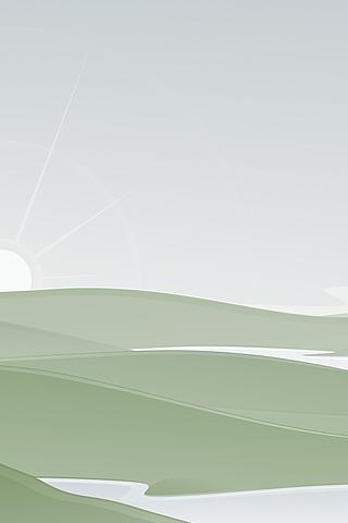 Rolling Hills Vector iPhone Wallpaper