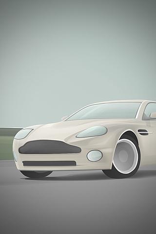 Aston Martin Vector iPhone Wallpaper