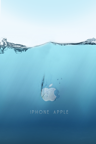 Apple Underwater Logo iPhone Wallpaper