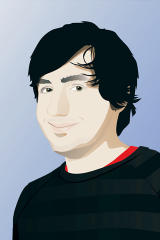 Diggnation - Kevin Rose Vector iPhone Wallpaper