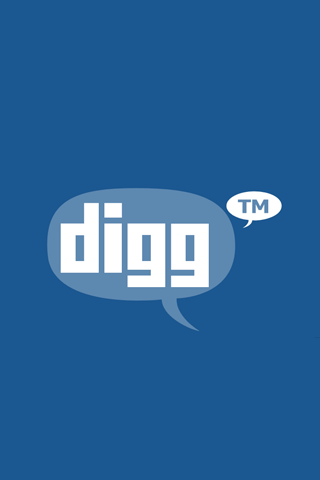 Digg Speach Bubble Logo iPhone Wallpaper