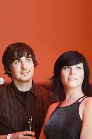 Diggnation - Kevin Rose + Female Friend iPhone Wallpaper
