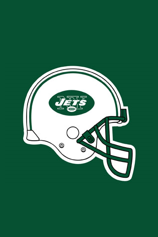 New York Jets Helmet Logo iPhone Wallpaper