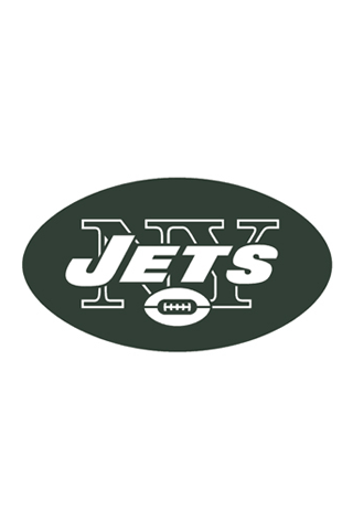 New York Jets White Logo iPhone Wallpaper