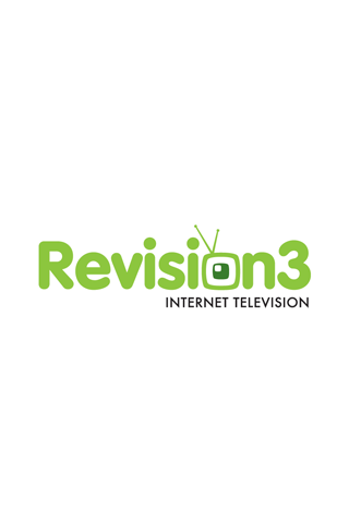 Revision 3 White Logo iPhone Wallpaper