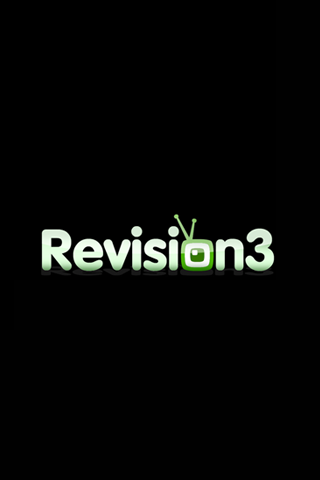 Revision 3 Green Logo iPhone Wallpaper
